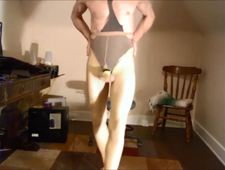 BOB MILGATE EXPOSES HIMSELF WEARING NOTHING BUT PANTYHOSE AND HIGH HEELS