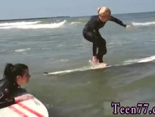 Brown and blonde lesbian strapon The best surfer chicks