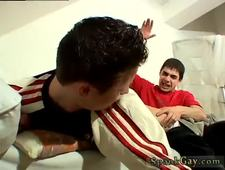 Spanking nude boys cage gay first time when the twink goes for his pipe