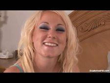 Skanky Blonde Teen Gets Hammered By A Big Cock