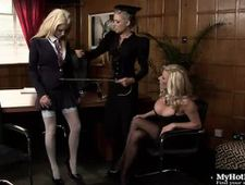 Anna Lovato is a strict mistress so Gemma Hiles and Michelle Thorne better