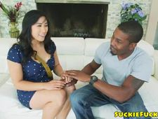 Japanese beauty assfucked by black cock