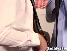 Ripped stud rims and drills ass in the office