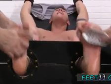 Gay bare hairy feet fetish first time Sebastian Tied Up Tickled