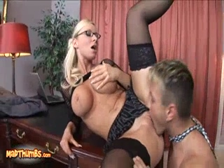 Secretary Helena Sweet Takes Cock Anally On Her Bosses Desk