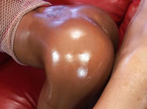 Oily Black Butt Fucked Well