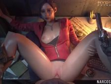 Cute brunette babe gets missionary style sex