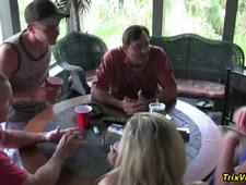 House Party Orgy with Ms Paris Rose and Melanie Hicks