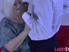 Granny Lacey Starr gets analized by bbc