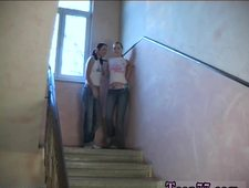 Punish teens truck and athletic Young lesbos smashing in a hallway