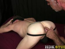 Deviant homosexual anally stretched after rough dicking