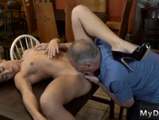 Teasing daddy Can you trust your girlplayfellow leaving her alone with