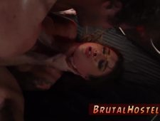Brutal bondage gangbang and cuckold wife domination Excited young