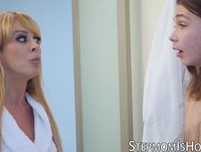 MILF Cherie Deville dicked by babyfaced stepson
