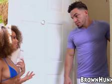 Young ebony Cecilia Lion riding hardcore after fingering