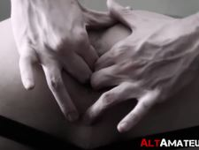 Perverted amateur emo masturbates as his ass is violated