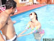 Sexy mexican teen and red head strip tease Swimming In Semen